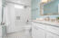 Love the grey/white tile & cambria quartz