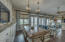 BREAKFAST NOOK/ WITH GAS FIREPLACE/ OCEAN FRONT VIEW