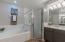 awesome new tile shower & subway tile on garden tub