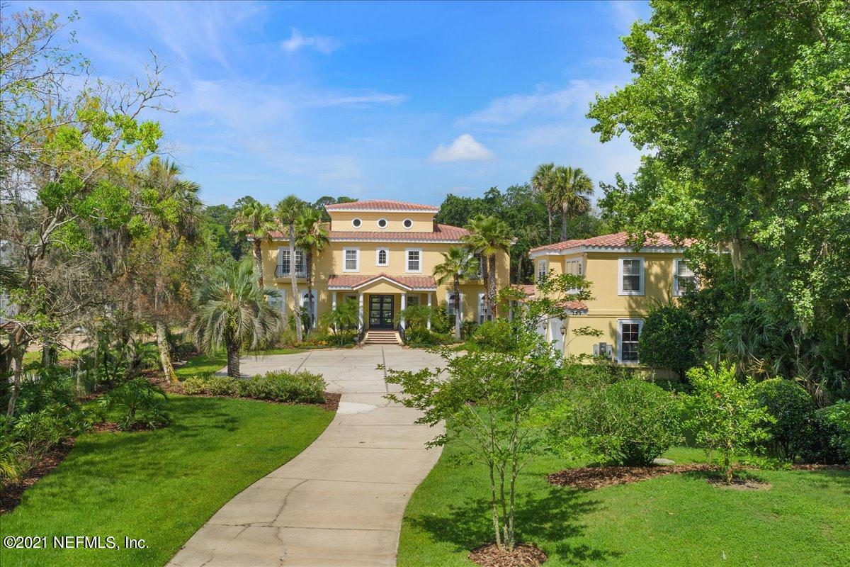 100' x 400' ICW lot with dock, boat lift and floating dock.  Backyard area was updated 4 years ago and now boasts nearly 2,000 sq. ft. of outdoor living including a summer kitchen, pool, hot tub, firepit and custom lighting. Home was built in 2003 and includes 5,383  sq. ft. using superior Insulated Concrete Forms (ICF) with all interior walls insulated. Main house includes 4 bedrooms and 4.5 baths. 3 of these bedrooms have in suite full bathrooms and walk in closets. Waterfront views with floor to ceiling windows from almost every room in the house. Detached garage apartment w/3 car garage & 900 sq. ft. of living space above garage. Additional updates include: entire new roof, repainted inside & out,  remodeled master bath & closet, custom built ins & fireplace.  See more... Detached garage apartment includes a full kitchen, full bathroom, separate bedroom, and living room and/or office area. New flooring, ceilings, paint, and custom blinds installed less than 2 years ago. Apartment can be fully powered using a single point generator plug in.  Property has professional landscaping, vegetable gardens and fruit trees. Location is less than 1 mile from Ocean Palms Elementary and Landrum Middle School with Ponte Vedra High School district as well. All A achools.