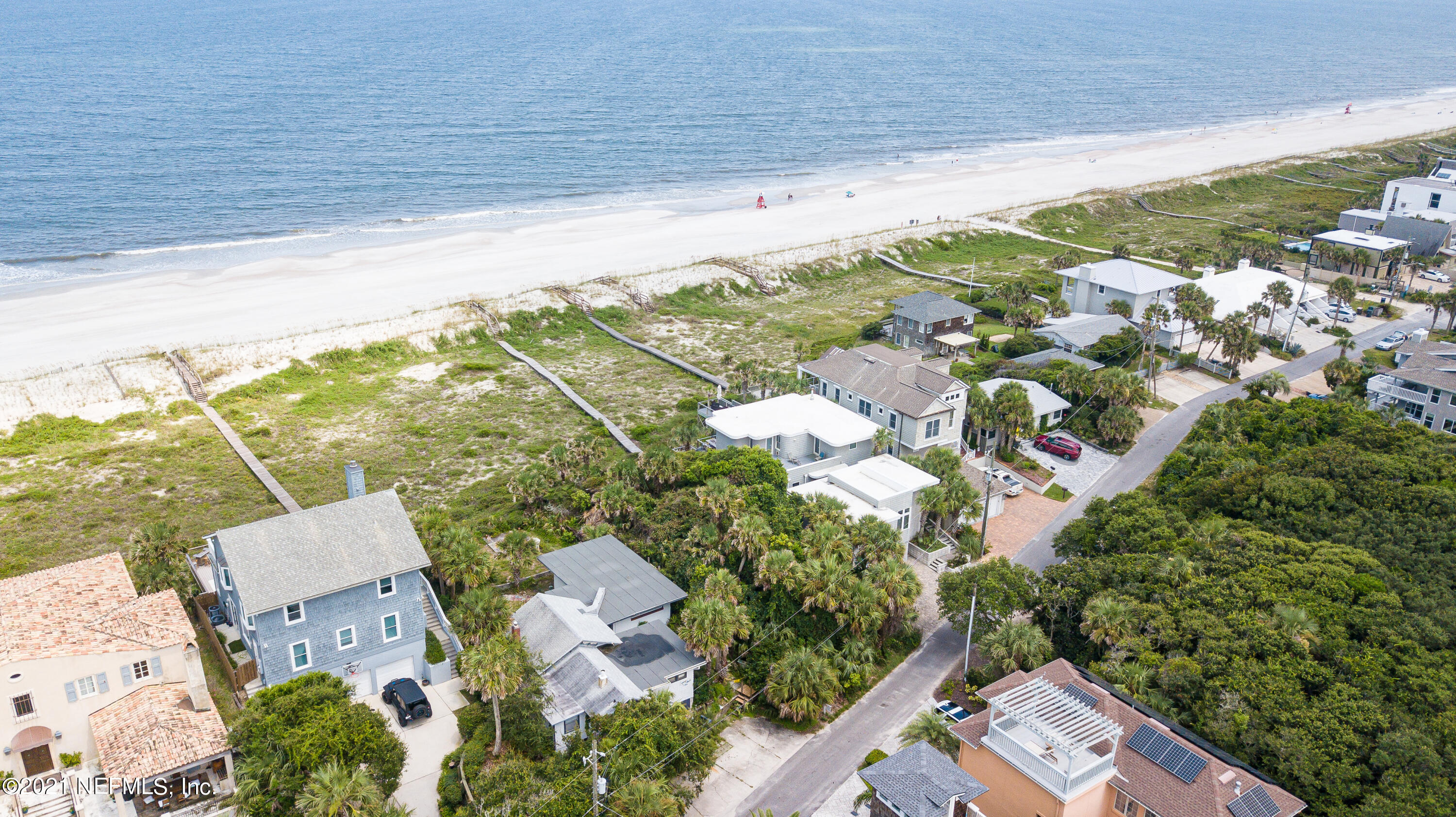 Welcome to the Atlantic Beach Lifestyle!  Enjoy the ocean breeze from your own backyard. This property features 100 feet of ocean front views ''off the beaten path'' from the lively Atlantic Beach. Enjoy the privacy of this hard-to-find home while still enjoying the luxuries the town has to offer. It is only a 10 minute bike ride to fantastic restaurants, music, coffee shops, shopping, and more! With this lot, you have the luxury of enjoying bike rides on the beach, serene views, short drives to the Atlantic Beach country club, and a relaxed lifestyle that can't be beat. Live like you're on vacation every day, and build your dream home on this prime lot. Please do not visit the property without a Realtor. If you would like to see a video of the property, please contact me.