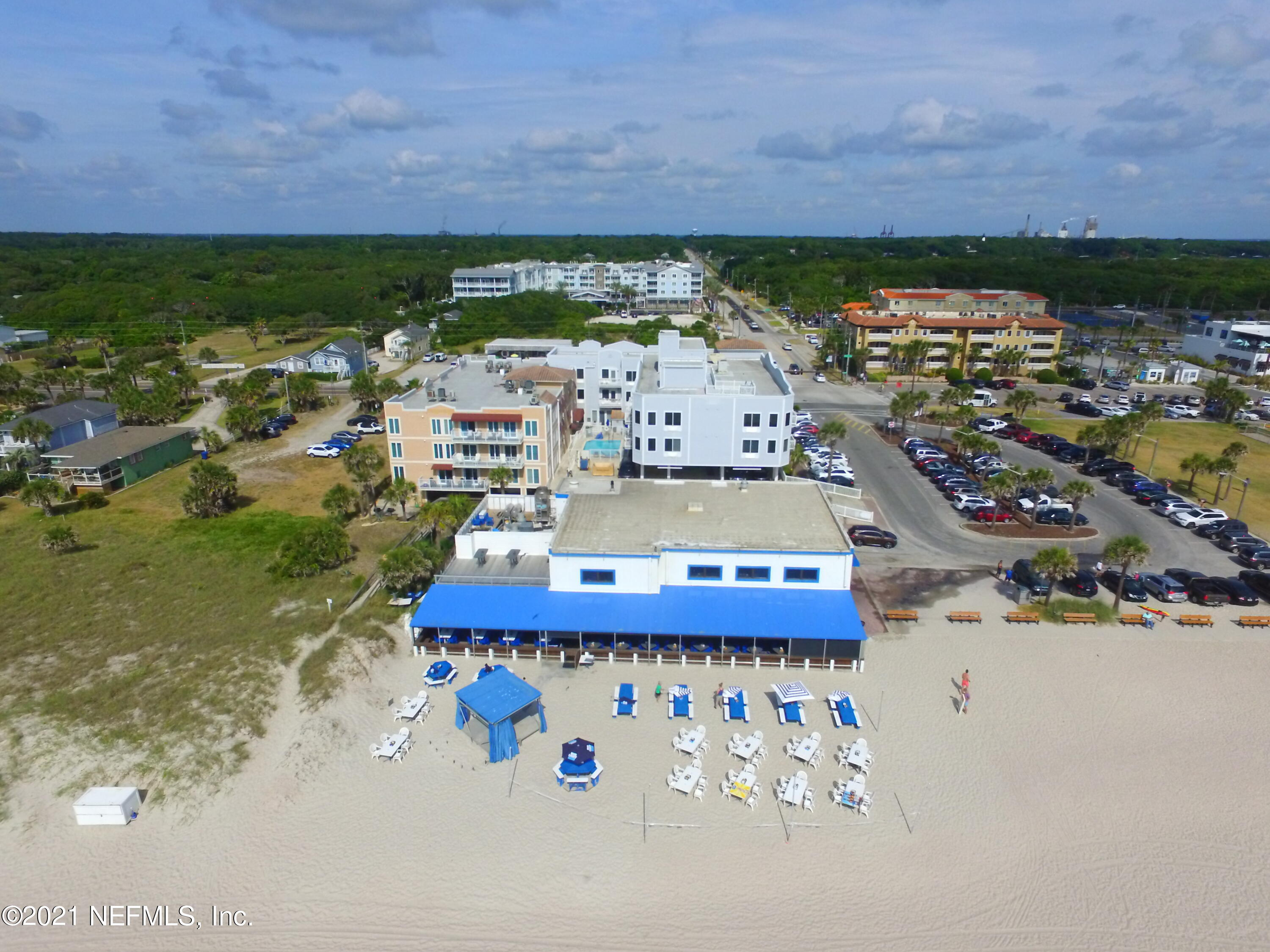 Fantastic opportunity to purchase a turn-key oceanfront restaurant property and business on the highly desirable Amelia Island! The Sandbar & Kitchen has a loyal following and continues to deliver on a great atmosphere, great service, and really great food. Sandbar offers indoor, patio (130 seats), and sand-in your toes outdoor seating (140 seats). The Sandbar accommodates parties of 100+ upstairs with its own upstairs bar. Also, the open floor plan allows for access to both upstairs and downstairs customers to live music on stage several times a week. Outside bar and beachside entertainment are great for weekend dining enjoyment. Adding immeasurable business value is the opening of the new Marriott Courtyard just steps away on Atlantic.