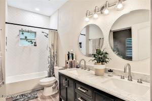 Gorgeous mirrors and double vanity