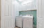 Laundry Space with Overhead shelves