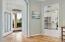 10' Decorative Ceiling & Newer Leaded Glass Door