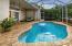 Freeform Pool 20' x 11'. Screened in area 30' x 18'. Brick paver flooring.