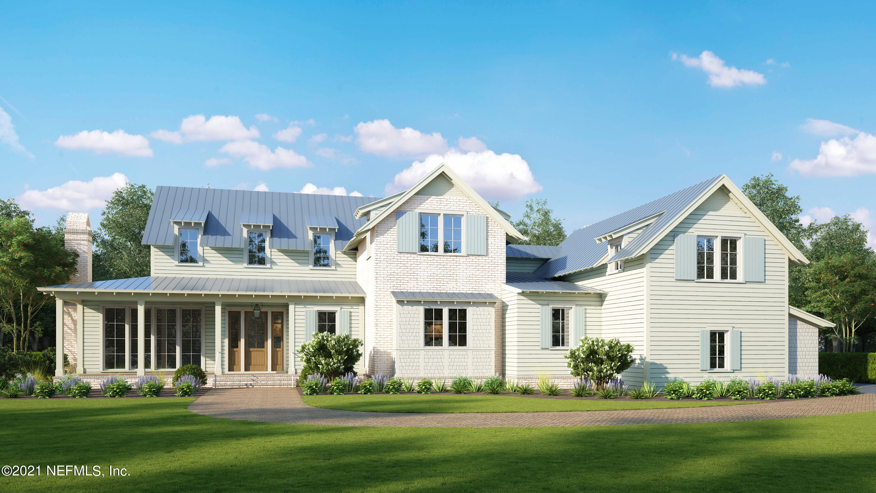 New Intracoastal Community in Ponte Vedra Beach:  Coastal Grove Estates.  15 One Acre Lots!  The Longleaf Plan is a Low Country inspired home with a mixture of Hardie Board Lap siding, painted white Brick and Metal Roof.  An open floorplan w/ a 2-story Great Room, 3-Car Garage, Office, Mudroom, 1st FL Owner's Suite & all ensuite Guest Bedrooms.  Amazing Outdoor Living featuring a beautiful Screened in Porch and a rear covered Lanai. Totally Separate Guest Wing over the Garage with separate Living, Bedroom, Bath & Breakfast Bar.  Thermador Appliances, Double Ovens, Ceramic Farmhouse Sink & Shaker Wood Cabinets. Open Cell Spray Foam Insulation, Pella Lifestyle Wood/Aluminum Clad Windows. Other Lots and Floorplans available.  Prices range from $1.8M -$2.1 M. Buyer to make interior selection