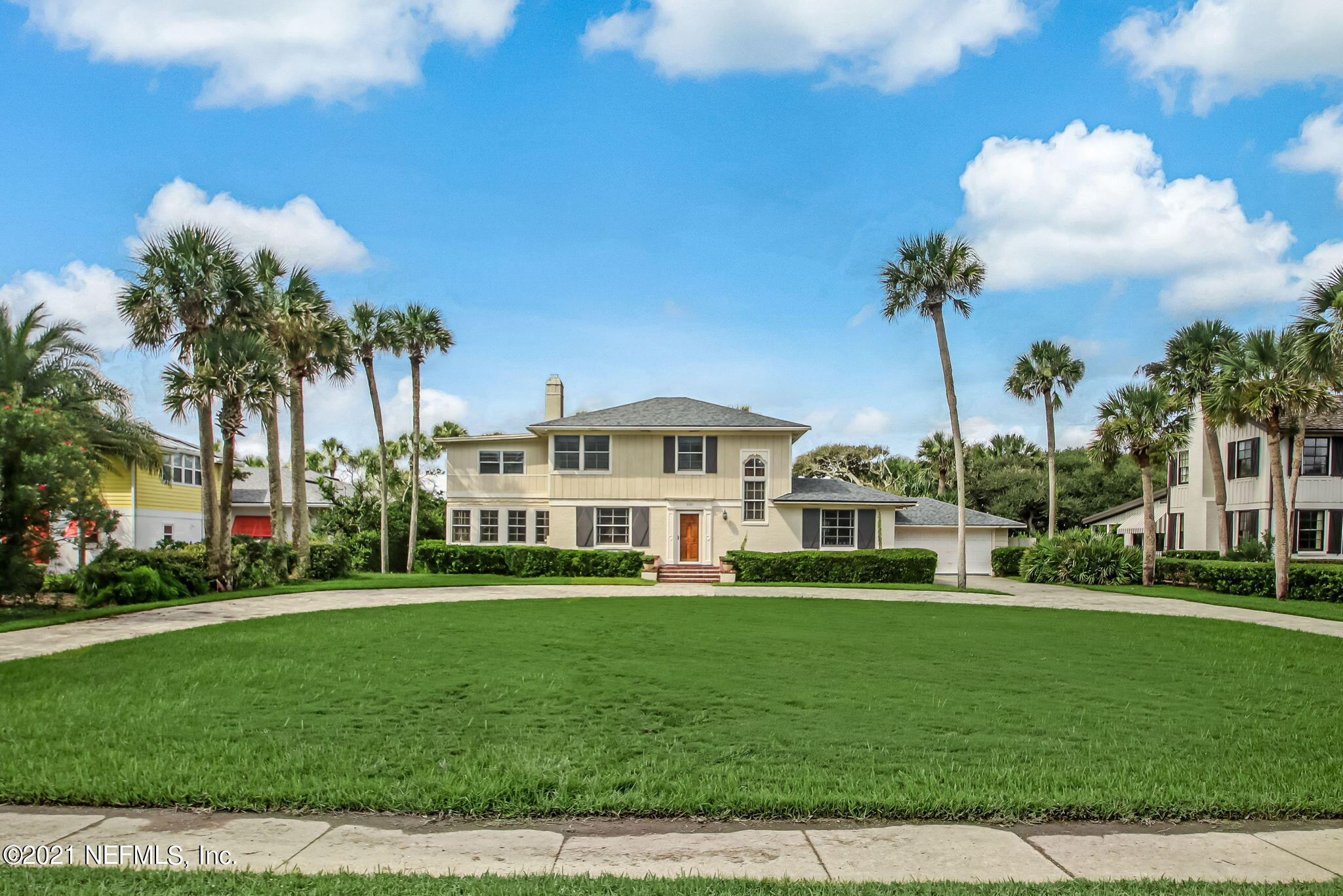 Rare opportunity to own one of the last original beach homes on the Boulevard in Ponte Vedra Beach or  build your dream home from the ground up.  This 3,300 sq ft home,with it's nostalgic feel, sits on .54 acres with 100ft frontage on the Blvd and backs up to the 3rd green of the Ponte Vedra Inn and Club Ocean Course. Spacious pavered circular drive already in place, this home has plenty of room for everyone with 5 bedrooms and 4 bathrooms in the main house and 1 bedroom and 1 bath suite off the garage. Additional features include formal living and dning rooms, large kitchen, Florida room and a large deck overlooking the expansive backyard and golf course.