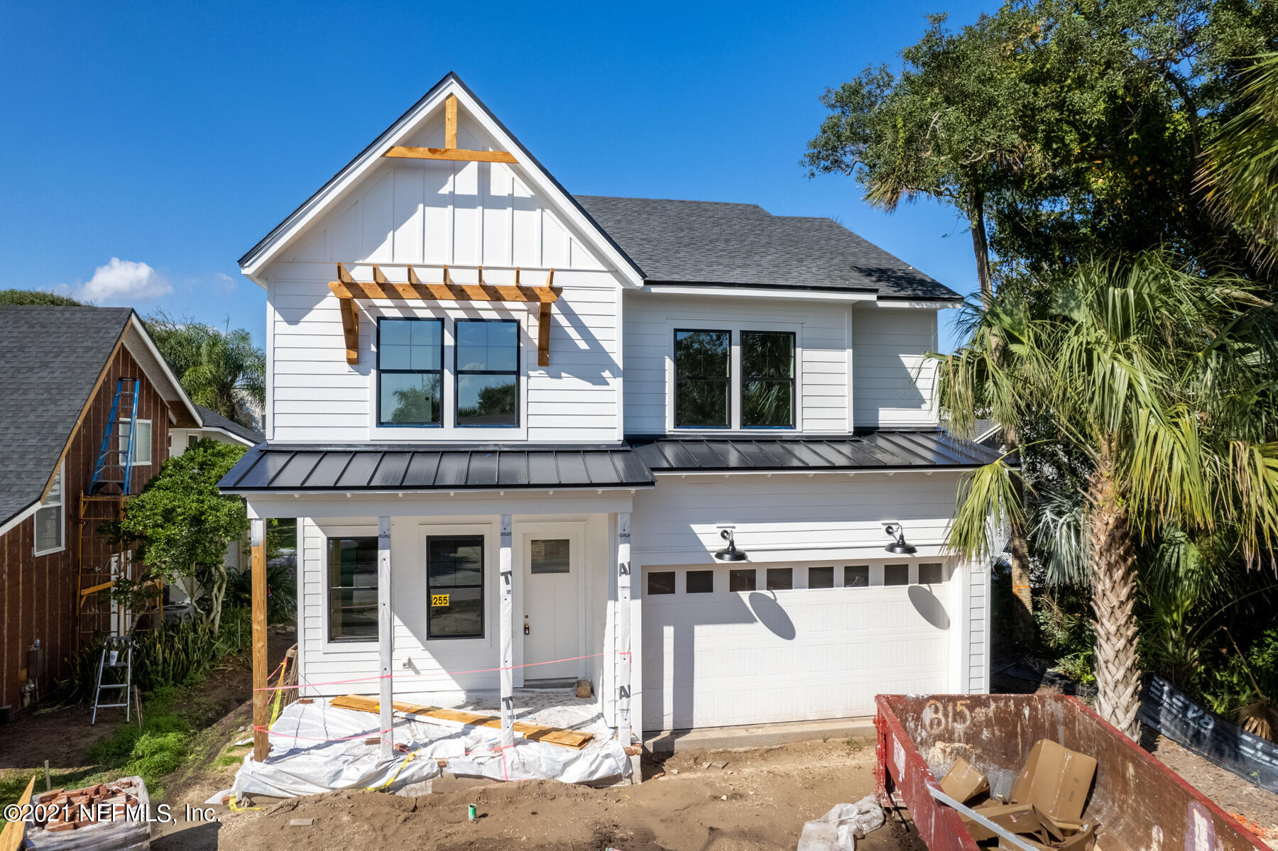 Modern Farmhouse in the heart of Atlantic Beach just one block from the sand! Design by Nesting Place Interiors to satisfy the harshest of critics and provide your sanctuary in one of the most desirable beaches in Northeast Florida. This home provides 4 beds/3.5 baths and just under 3300sqft of living. The open floor plan provides ample space for entertaining indoors while pocket sliders allow great flow to the covered lanai. Second floor master features vaulted ceilings, huge his/her closets, and a spa like bathroom for a truly palatial feel. Three additional bedrooms, loft area, and a large laundry finish off this level. This home really has it all! Call for more info.