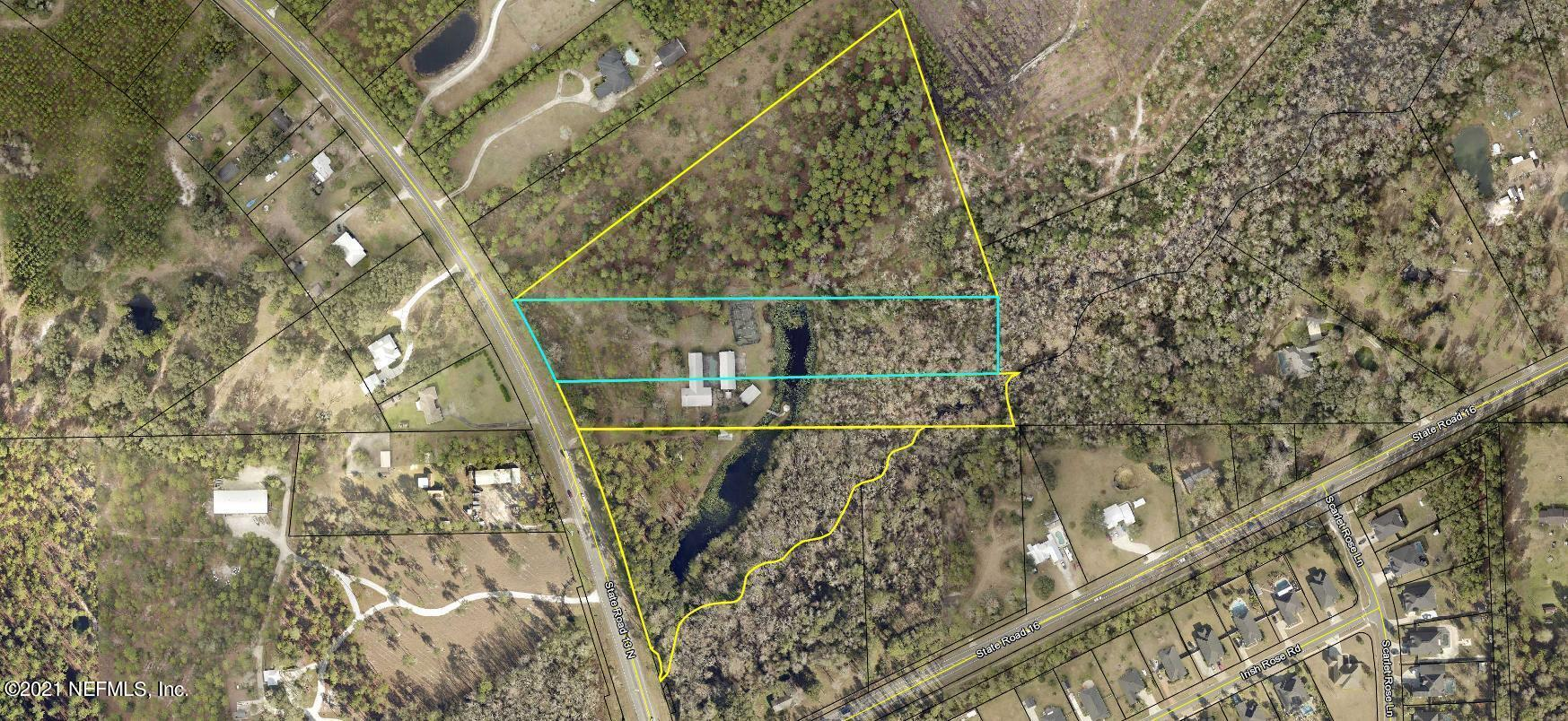 Prime Redevelopment Property 4 parcels, approximately 20.87 in total acreage at the corner of State Road 13 & 16A in the heart of all of the redevelopment in St. Johns.  Approx 950 Feet of frontage on State Road 13.   Currently used as a single family residence, these lots are ready for redevelopment.  Currently zoned OR, and current use is multifamily under 10 units.  Additional parcels available for more acreage, call for details.4 Parcels, approximately 20.87 in total acreageParcel ID # 0121400010Parcel ID # 0121400020Parcel ID # 0121400030Parcel ID # 0130200040