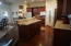 Kitchen view show casing the Beautiful Wood Floors...