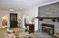 Quadra Fire insert Wood Burning Fireplace in original Living Room
