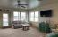 Family room in walk out basement