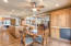 Dining room area of great room is convenient to kitchen
