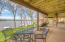 Covered patio allows you to enjoy the views rain or shine!