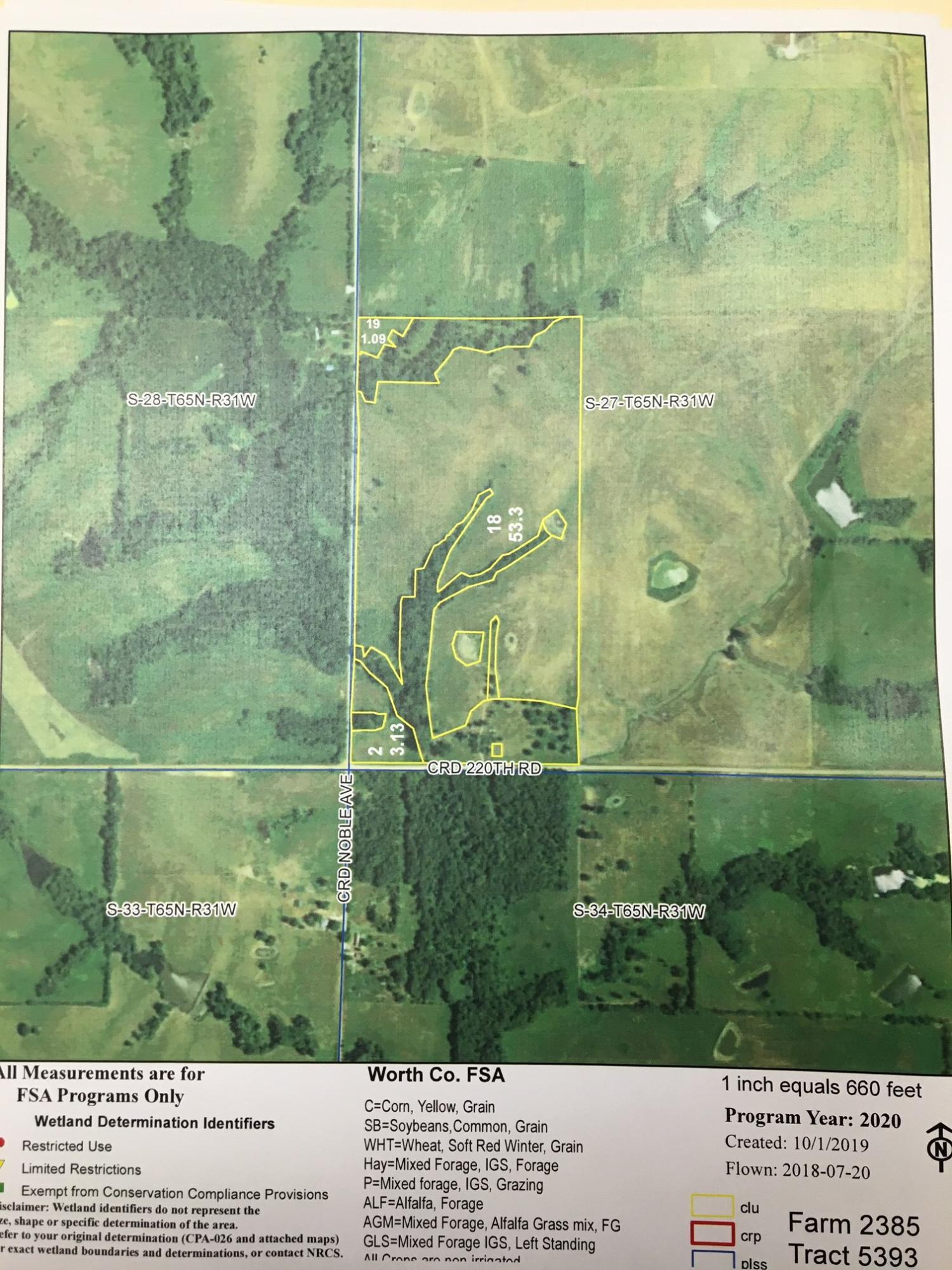 NOBLE Avenue, Worth, Missouri 64499, ,Farms,NOBLE,4653