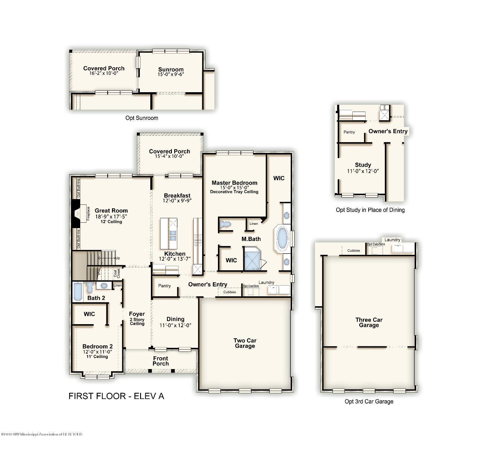 Bentley first floor - Elev A