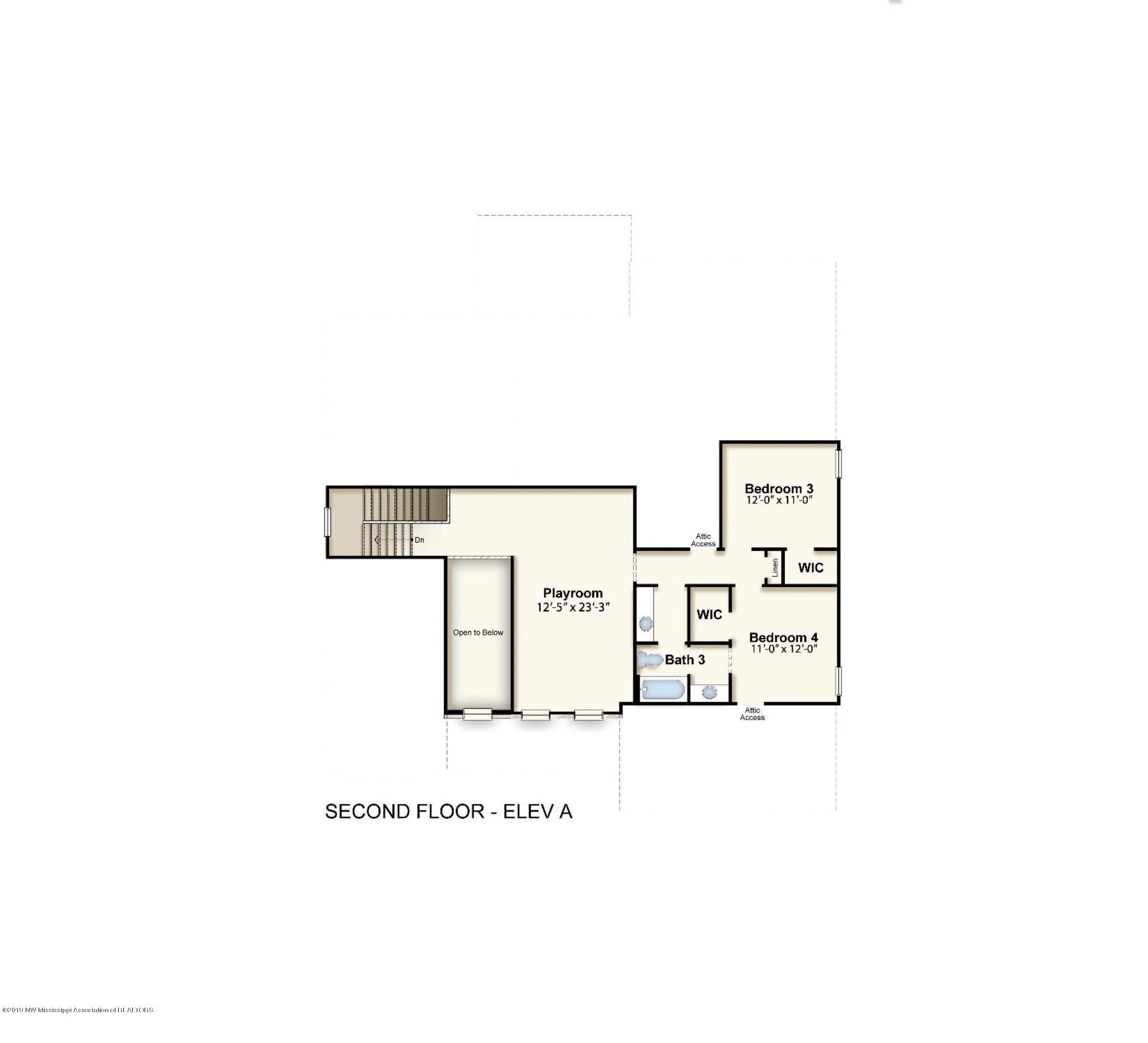 Bentley second floor Elev A