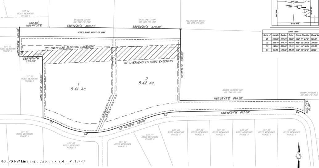 Plat of Lot 1 and lot 2