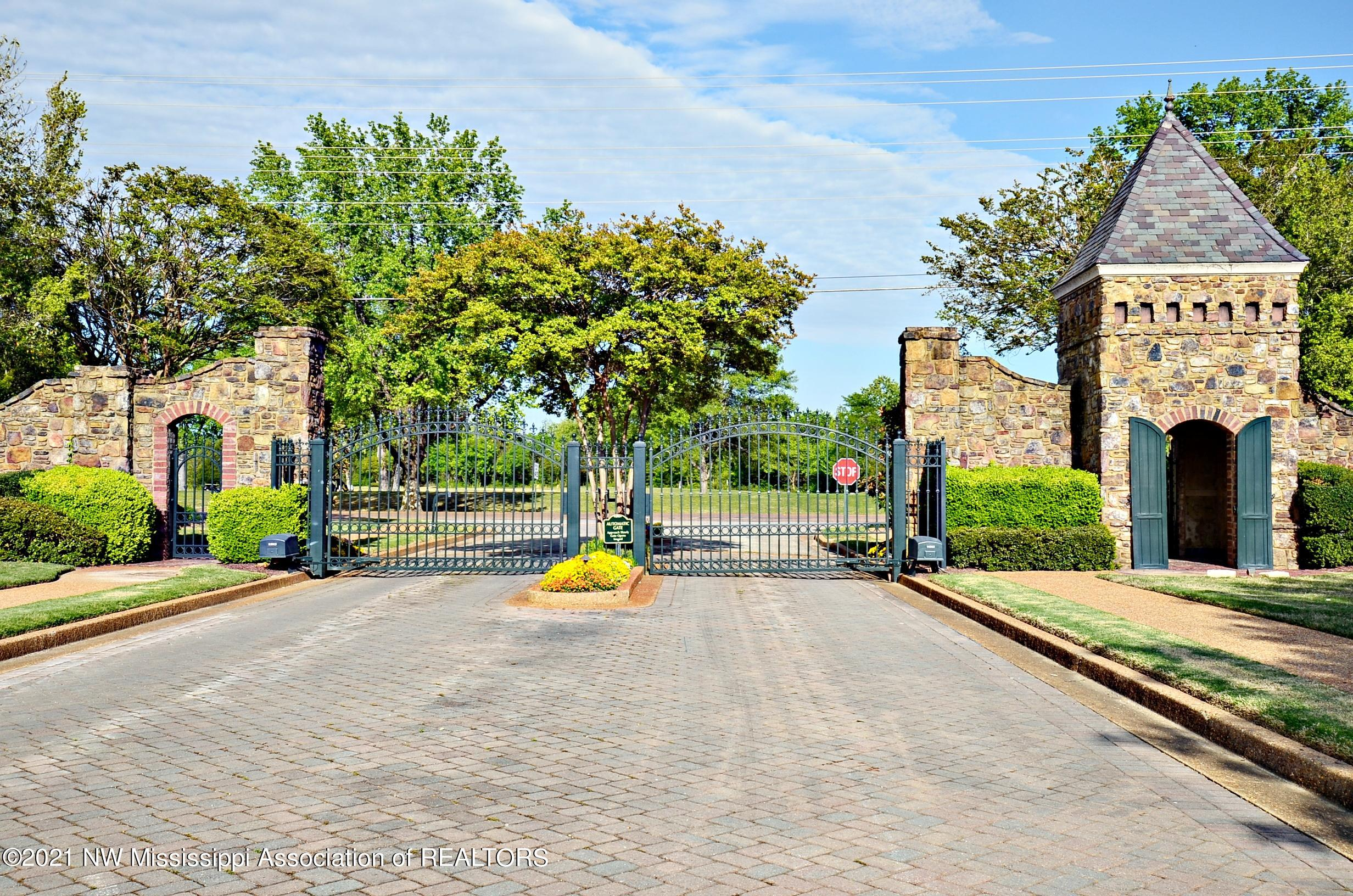 Gated entrance leaving