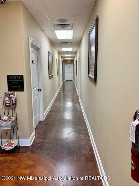 downstairs hallway to elevator