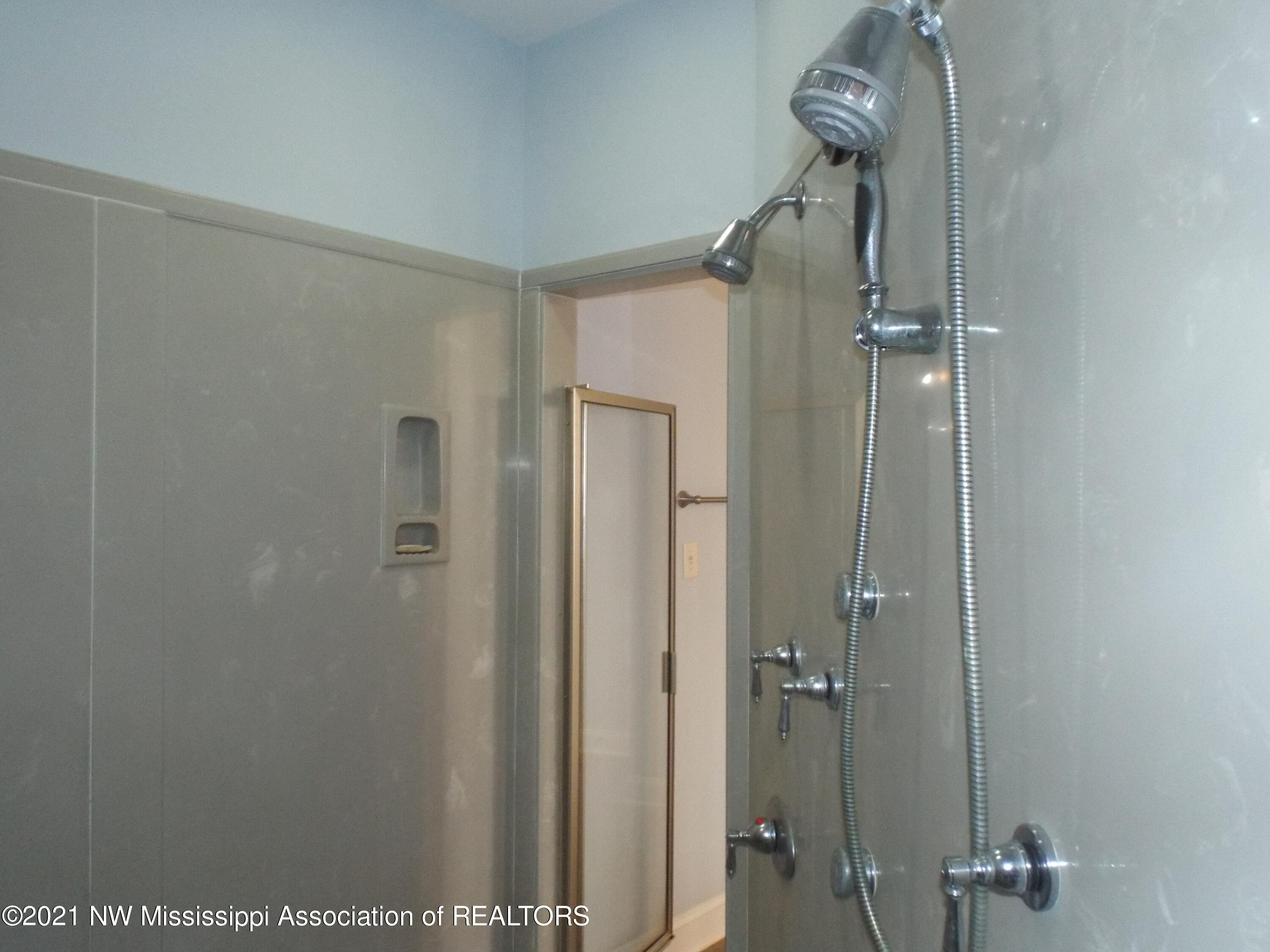 double shower heads and body spray