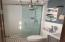New 3/4 bath in master bedroom.
