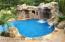The Gunite heated salt water pool was installed 2013