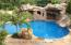 Gunite inground salt water heated pool with slide & hidden steps by the Rock deco