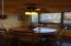 Large dinette in eat in kitchen