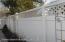 New PVC fencing