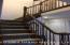 Stained steps, bannisters & railings to 2nd floor