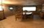 Apartment living room being used as dining area