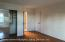 Master bedroom, w/ door to full bath