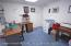 Ground Floor office, family r m, full bath, breakfast area