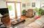 Family Room w/ Sliders to Yard