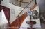 Custom wrought iron stair case