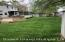"""Long shot of the yard. 100"""" feet in width to design as you like plus 2 side yards."""