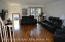 HARDWOOD FLOORS THROUGH OUT THIS LIVING ROOM / DINING ROOM COMBO