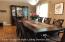 Formal Dining Room w/Sliding Glass Doors to Small Porch