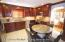 Newer Eat In kitchen with Granite Counters , Cherry Wood Cabinets,Crown Molding & SS Steel Appliances