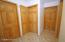Upper hallway note solid wood raised panel doors thru out
