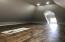 finished attic - plenty of storage