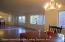 Spacious diningroom/livingroom area great for entertaining