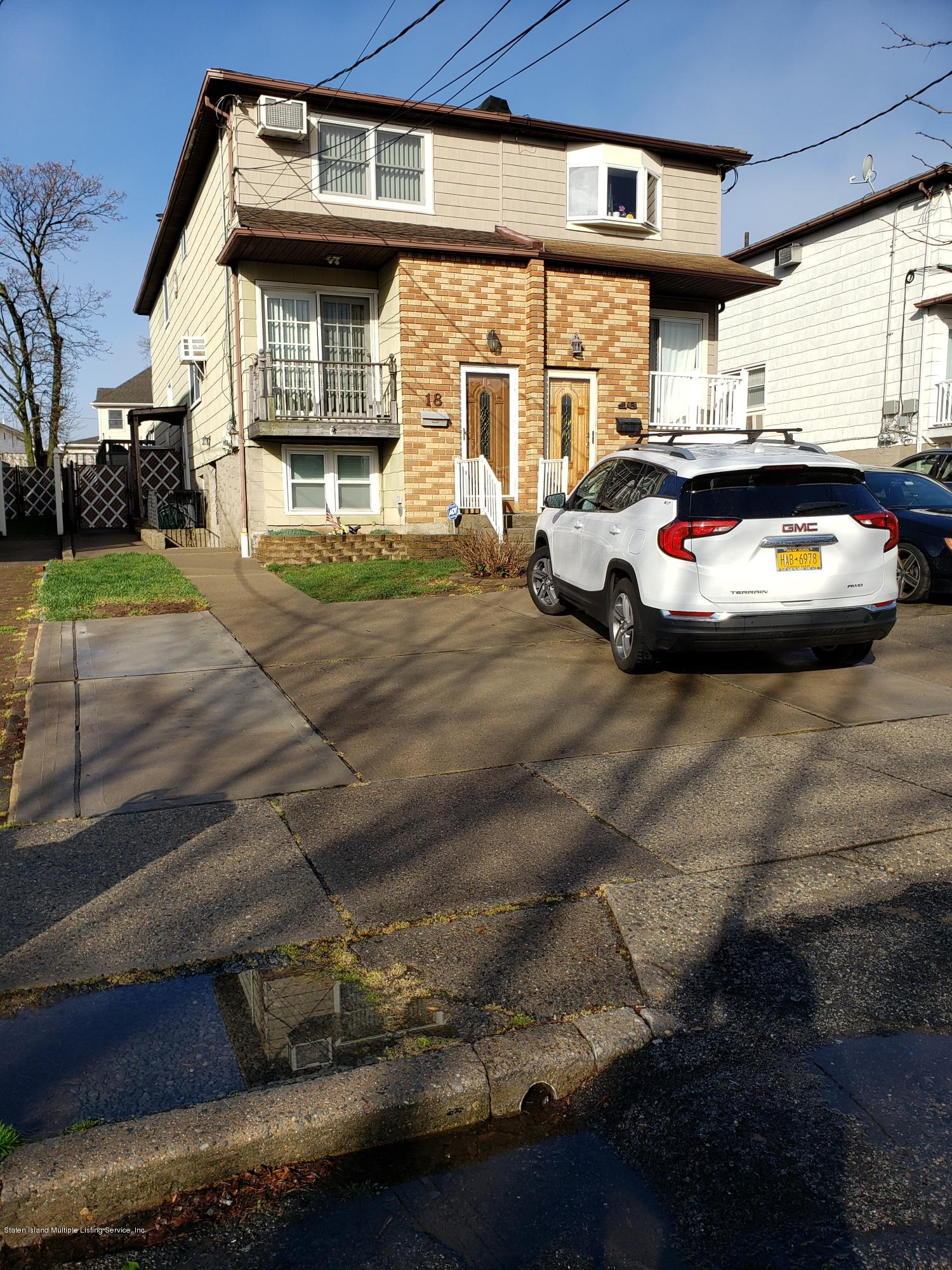 Two Family - Semi-Attached in South Beach - 18 Austin Avenue  Staten Island, NY 10305