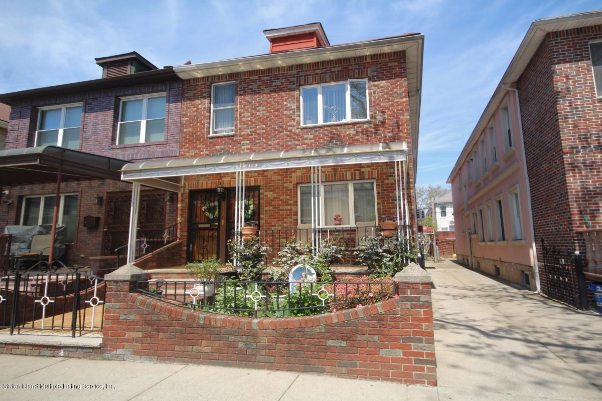 Two Family - Semi-Attached in Bensonhurst - 2113 73rd Street  Brooklyn, NY 11204