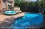 Beautiful Private yard stamped concrete built in salt water pool with new heater