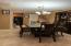 Formal dining room w/ porcelain floors