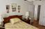 Second floor master bedroom with double closet.