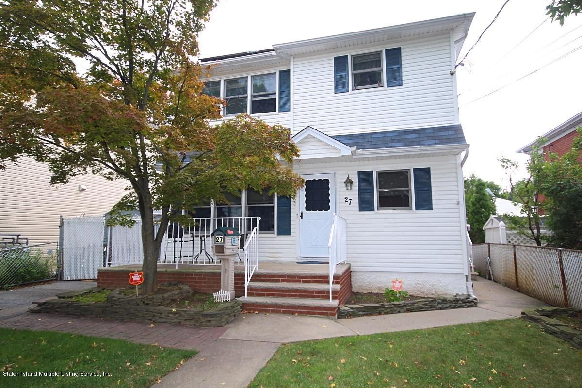 Two Family - Detached in South Beach - 27 Linwood Avenue  Staten Island, NY 10305